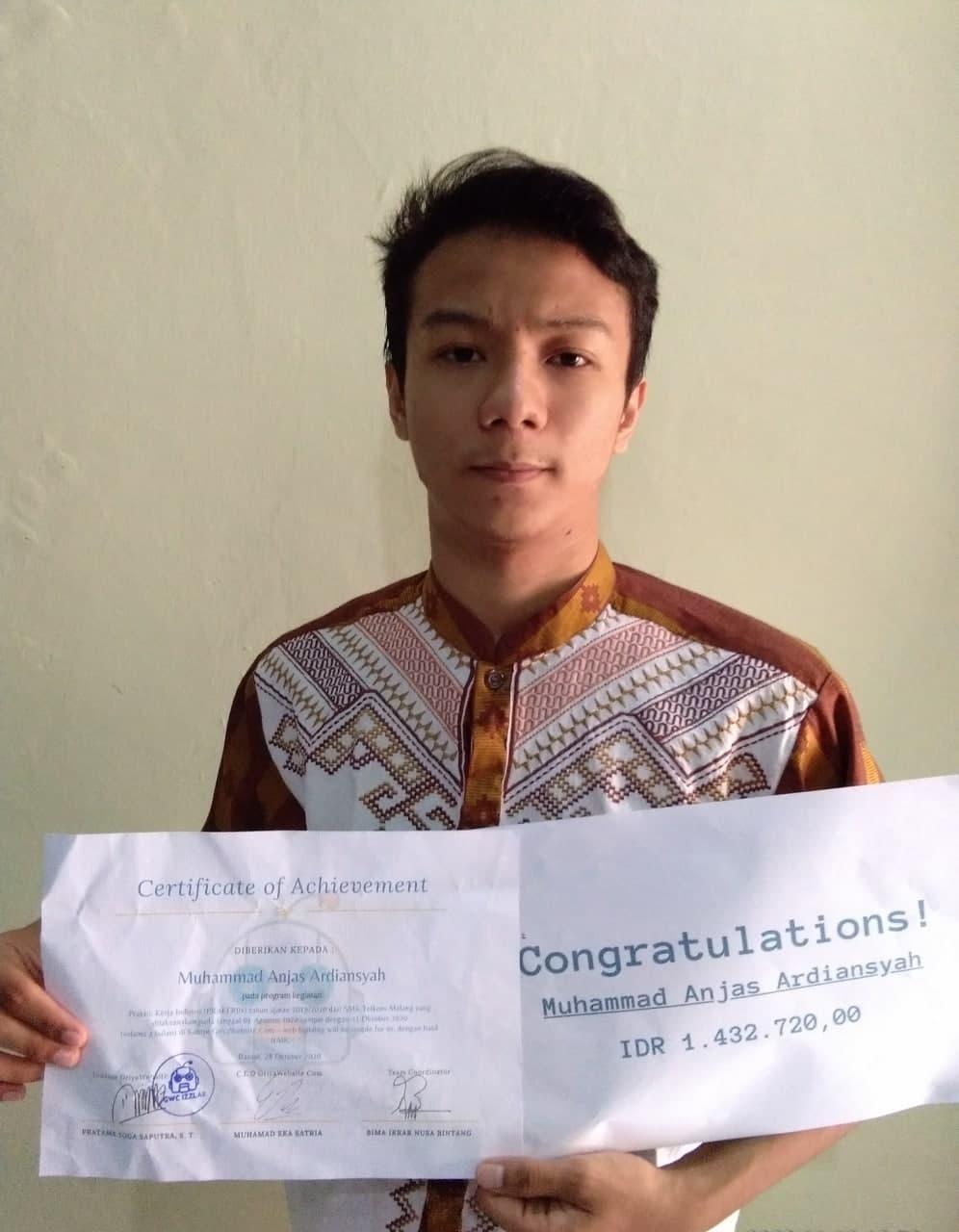 Prakerin Muhammad Anjas Ardiansyah SMK Telkom Malang